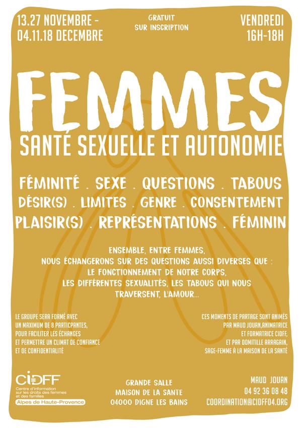 Atelier Santé sexuelle et autonomie Femmes - CIDFF 04